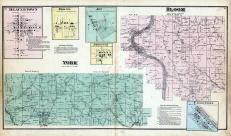 Bloom Township, York Township, Deavertown, Eagleport, Airington, Bristol, Joy, Morgan County 1875