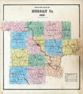 Morgan County Outline Map, Morgan County 1875