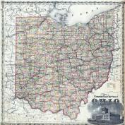 Ohio Railroad and Township Map, Morgan County 1875