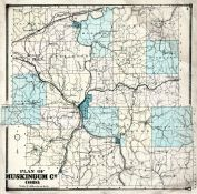 County Map, Muskingum County 1866