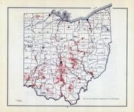 Ohio State Map - Distribution of Earthworks Map, Ohio State 1915 Archeological Atlas