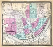 Cincinnati, Ohio State Atlas 1868