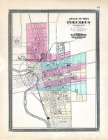 Columbus, Ohio State Atlas 1868