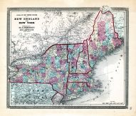 New England and New York, Ohio State Atlas 1868