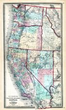 Pacific States and Territories, Washington, California, Idaho, Oregon, Ohio State Atlas 1868