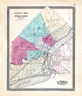 Toledo, Ohio State Atlas 1868