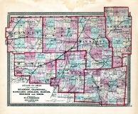 Wyandot, Crawford, Richland, Ashland, Marion, Morrow, Knox, Ohio State Atlas 1868