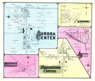 Aurora Center, Streetsboro Corners, Newport, Streetsboro Center, Aurora Depot, Portage County 1874