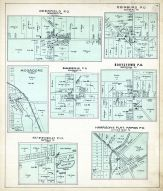 Deerfield P.O., Edinburg P.O., Mogadore, Shalersville P.O., Rootstown P.O., Suffield P.O., Harrison`s Plat - Rapids P.O., Portage County 1900