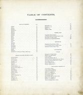 Table of Contents, Portage County 1900