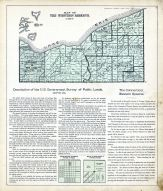 Western Reserved Map, Discription of U.S. Government Survey of Public Lands, Portage County 1900