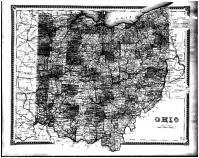 Ohio State Map, Stark County 1870