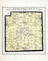 Springfield Township Ohio Map.Springfield Township Atlas Summit County 1874 Ohio Historical Map