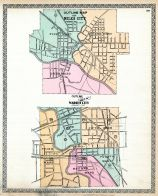 Niles City - Outline Map, Warren City - Outline Map, Trumbull County 1899