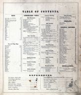 Table of Contents, Tuscarawas County 1875