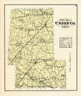 Outline Map, Union County 1877