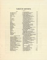 Table of Contents, Union County 1877