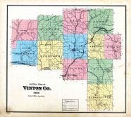 County Outline Map, Vinton County 1876