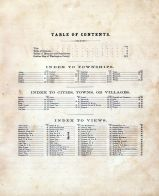 Table of Contents, Washington County 1875