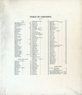 Table of Contents, Wyandot County 1879