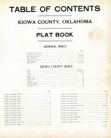 Table of Contents, Kiowa County 1913