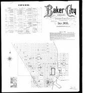 Index Map and Street Index, Baker City 1895