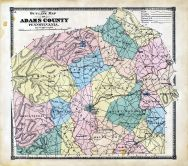 Adams County Outline Map, Adams County 1872