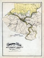 Allegheny County Geological Map, Allegheny County 1876