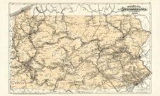Railway Map, Beaver County 1876