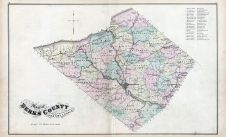 Berks County Map, Berks County 1876