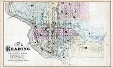 Reading City - Ward Map 1, Berks County 1876
