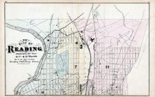 Reading City - Ward Map 2, Berks County 1876
