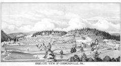 Curwensville 1878 Bird's Eye View, Clearfield County 1878