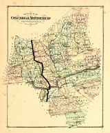 County Outline Map, Columbia and Montour Counties 1876