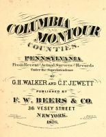 Columbia and Montour Counties 1876
