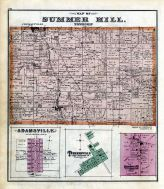 Summer Hill, Adamsville, Turnersville, Crossingville P.O., Crawford County 1876