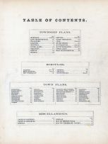 Table of Contents, Cumberland County 1872