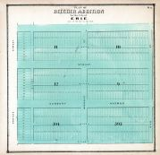 Erie City - Beecher Addition, Erie County 1865