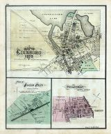 Edinboro, Harbor Creek - Plan of, Wesleyville, Erie County 1876