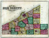 Erie County Map, Erie County 1876