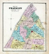 Franklin County Map, Franklin County 1868