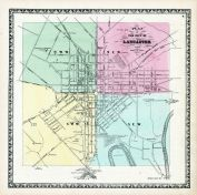 Lancaster City Plan, Lancaster County 1864