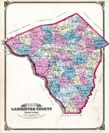 Lancaster County Map-1875, Lancaster County 1875