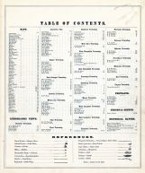 Table of Contents, Lancaster County 1875