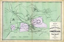 Cornwall Ore Banks Relative Position Map, Lebanon County 1875