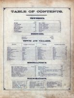 Table of Contents, Lebanon County 1875