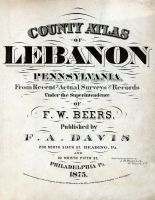 Title Page, Lebanon County 1875