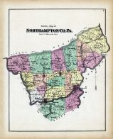 Northampton County - Outline Map, Northampton County 1874