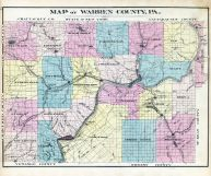 Warren County Map, Warren County 1878