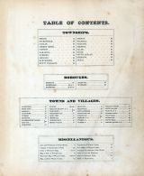 Table of Contents, Wayne County 1872
